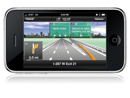 Navigon on the iPhone